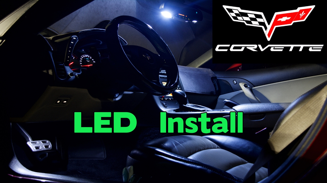 C6 corvette interior led install map and courtesy - Led lights for cars interior install ...
