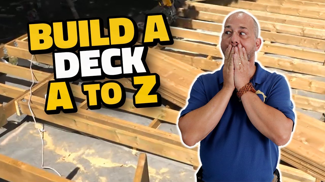 DIY How to Build a Deck A to Z - YouTube