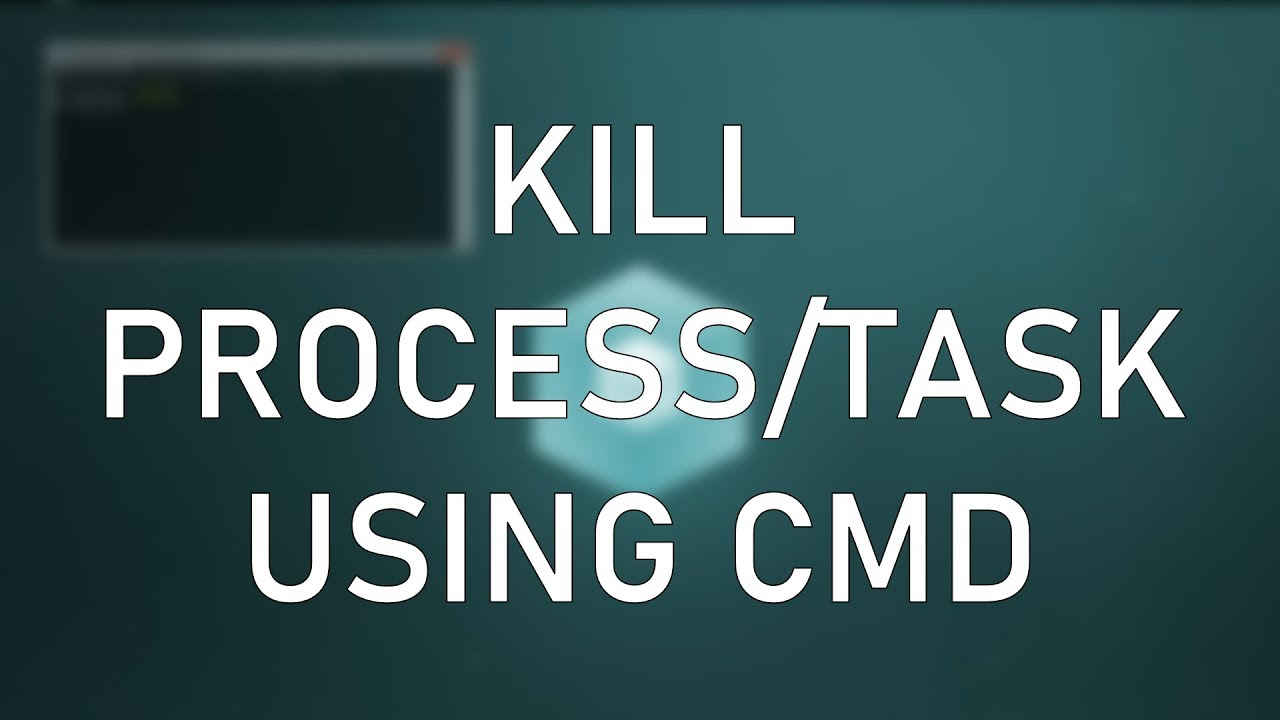 how to stop process in cmd
