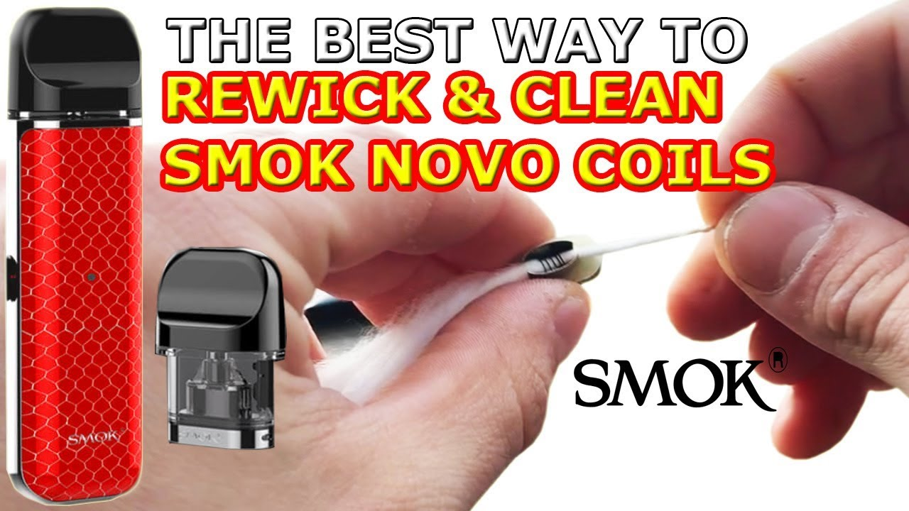 How To Rewick & Clean Smok Novo Vape Pod Tutorial : LightTube