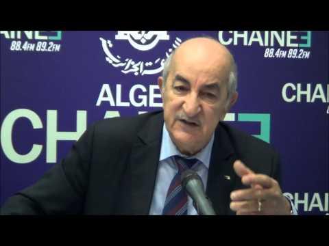 Abdelmadjid Tebboune ministre de l'habitat , l'invité a la rédaction de la chaine 3