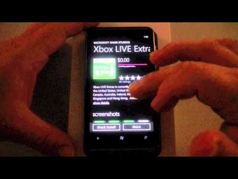 HTC HD7 Software Part 1 - Xbox Live