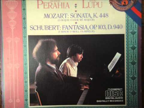 Radu Lupu , Murray Perahia 4 hands Schubert Fantasy F minor Part 1