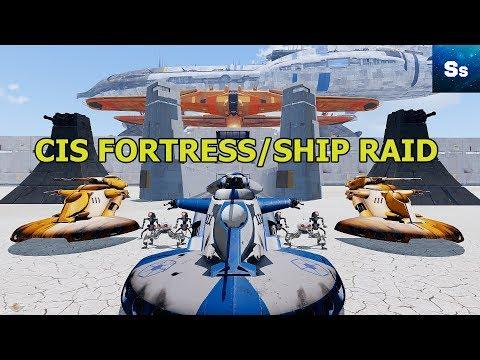 """CIS FORTRESS ASSAULT/SHIP RAID"" - STAR WARS Arma 3 Zeus Fun Op"