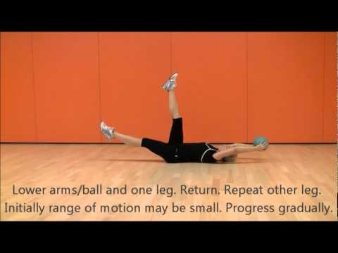 Dying bug / Dead bug With Medicine Ball | Core X | Marina Aagaard, MFE