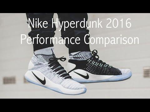 370a430faca7 HyperDunk 2016 Flyknit Performance Comparison - YouTube