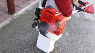 Débroussailleuse moteur Kawasaki TJ 35 E I: démarrage et fonctionnement