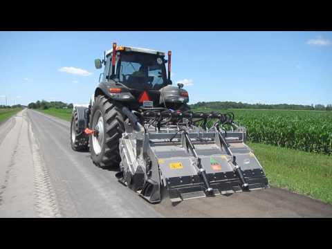 FAE Soil Stabilization MTM-225 CASE Magnum 290 CVT Gravel Road
