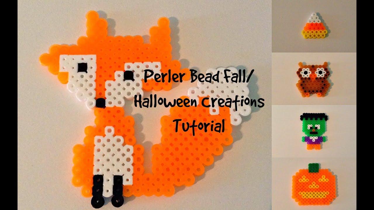 Perler Bead Fall Halloween Creations Tutorial Youtube