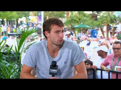 Ernests Gulbis interview Tennis Channel Indian Wells 2014