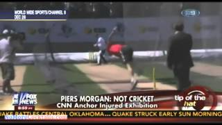 Anti-Gun Fanatic Piers Morgan Gets Nailed With A Cricket Ball