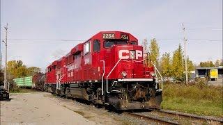 RAILREEL CN 148 & 382 10,000 pie de página. CP London (Ontario, el 31 de Octubre de 2016