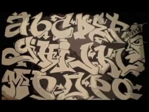 Graffiti Alphabet Block Style Lowercase