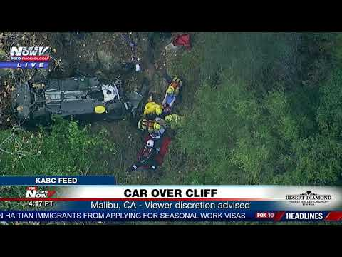 CAR OVER CLIFF: Person rescued from vehicle that fell 250 ft in Malibu, CA (FNN)