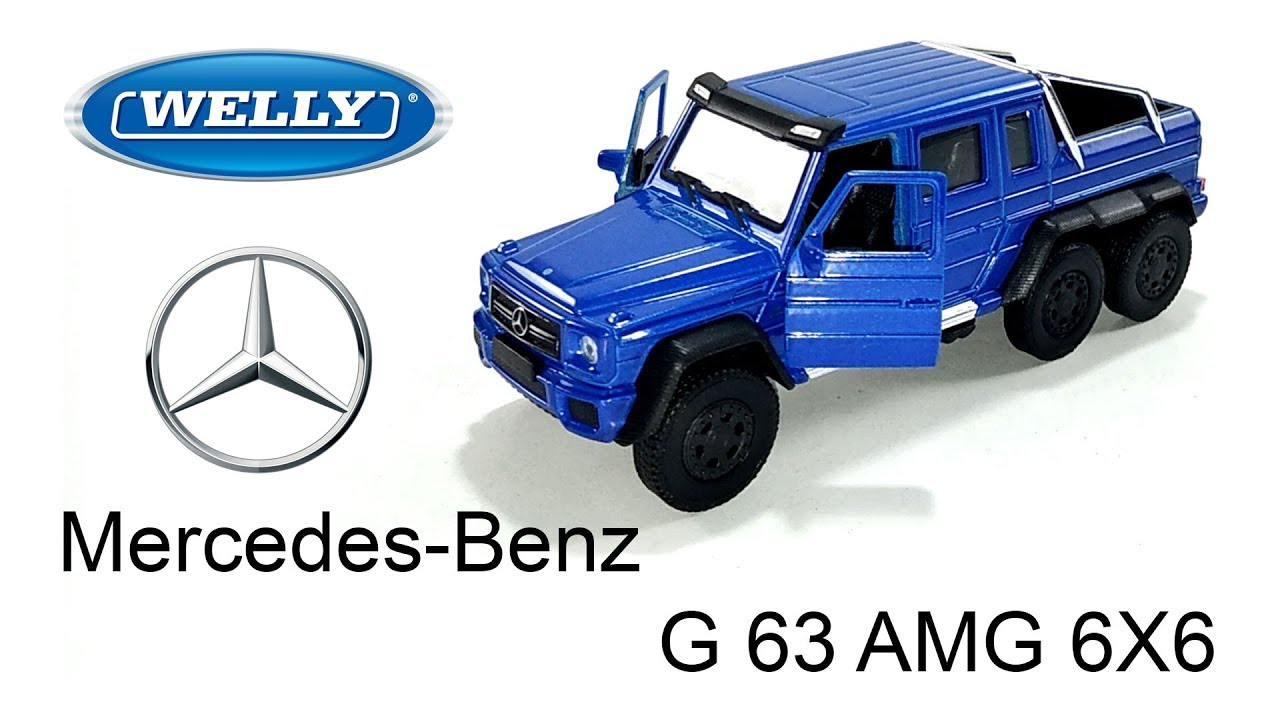 WELLY 2014 MERCEDES BENZ G 63 CLASS AMG 6 x 6 WHITE 1//24 DIECAST CAR  24061