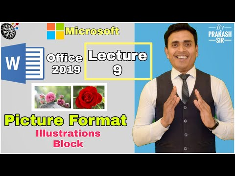 Ms Word 2019 l Lecture 9 l How to use picture format option of illustration block in insert tab l