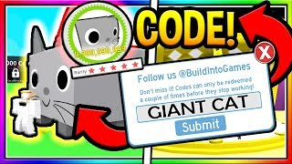Roblox Pet Simulator Giant Cat Codes Wiki