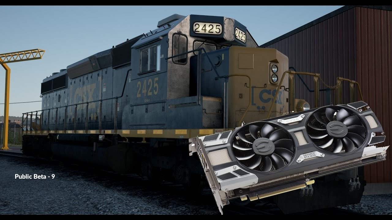 Train Sim World: CSX Heavy Haul (Public Beta): GTX 1070 Max Settings Test
