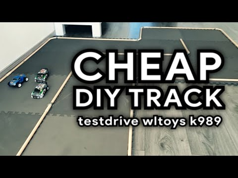DIY Cheap Race/drift Track For 1/28 Scale Wltoys K989, P929 (just A Testdrive)