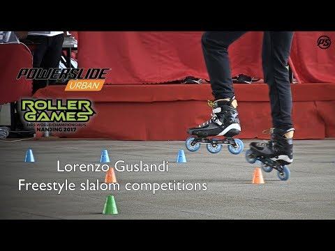 Lorenzo Guslandi freestyle slalom competitions at Rollergames Nanjing 2017 - Powerslide