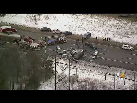8-Car Crash Shuts Down I-95 In North Attleboro