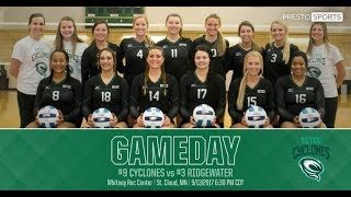 Cyclones Volleyball Vs Rochester Ctc
