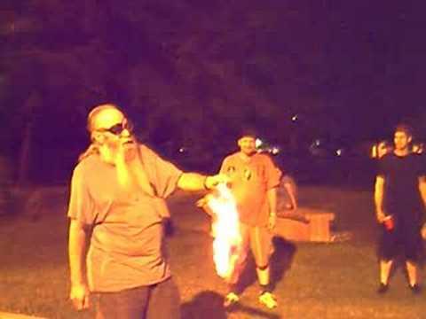 Aged Anarchist Burns Flag