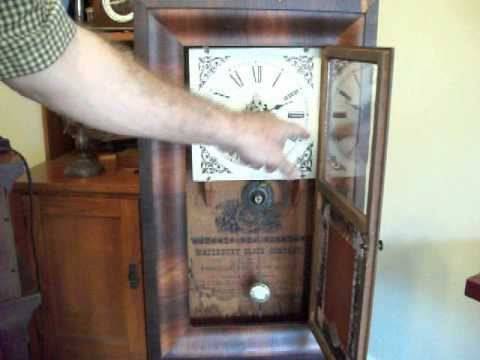 Antique Waterbury 30 hour Ogee Clock