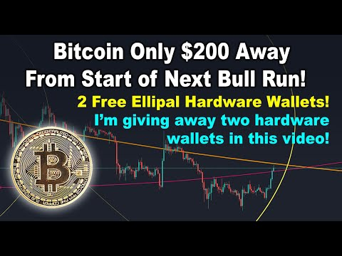 Bitcoin only $200 away from start of bull run! Target is $11.8k & BTC price targets & free Ellipals!