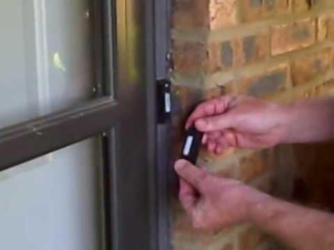 Install lighted doorbell button