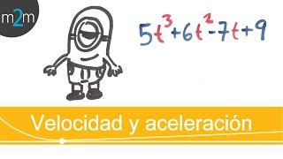 Aplicación de la derivada │ velocidad y aceleración