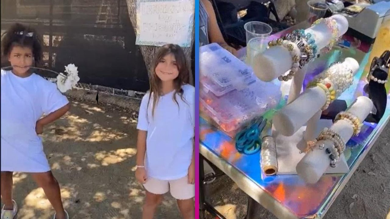 North West and Penelope Disick Start a LEMONADE Stand!