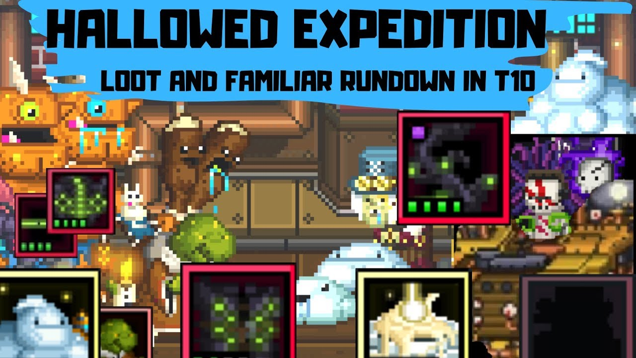 Bit Heroes Guide >> Bit Heroes Hallowed Expedition Loot And Familiar Guide In T10