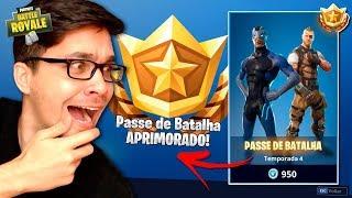 COMPREI O PASSE DE BATALHA DA NOVA TEMPORADA DO FORTNITE E VENCEMOS COM A NOVA SKIN! Ft Gelli Clash