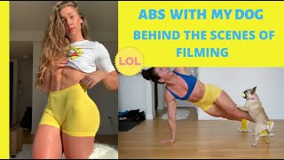 AB WORKOUT WITH MY DOG - FUNNY BTS