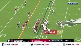 2019 American Football Highlights - Maryland vs Temple Video