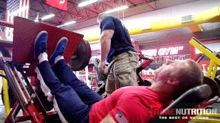 Evan Centopani Puts John Meadows Through a Leg Workout