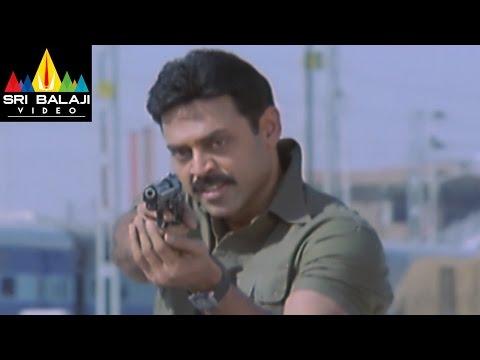 Gharshana Movie Dass Encounter Scene   Venkatesh, Asin   Sri Balaji Video