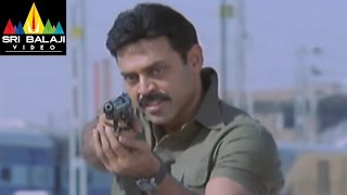 Gharshana Movie Dass Encounter Scene | Venkatesh, Asin | Sri Balaji Video