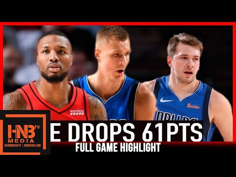 Dame drops 61pts | Blazers vs Mavericks 8.11.20 | Full Highlights
