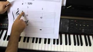 دروس بيانو بالعربي درس 1