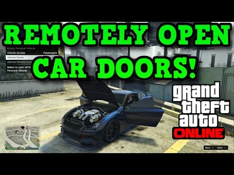 Gta 5 Online: REMOTELY OPEN VEHICLE DOORS! - How To Use The Interaction Menu!