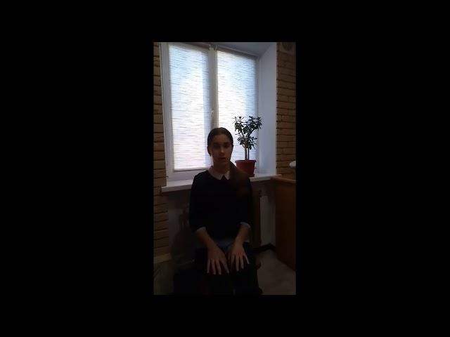 Изображение предпросмотра прочтения – ПолинаЩукина читает отрывок изпроизведения «Мой путь» С.А.Есенина