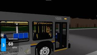 Fairview Transit (Roblox) 2010 New Flyer D40LF 1025 ~ 99 Senlac To Torbarrie East Stn