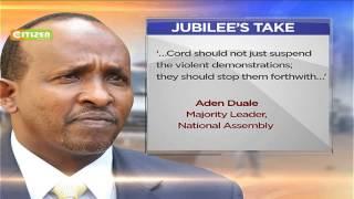 CORD Coalition calls off Monday demos 'to allow for dialogue'