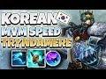 KOREAN CHALLENGER MOVEMENTSPEED TRYNDAMERE BUILD! IS IT BETTER THAN AP? - League of Legends