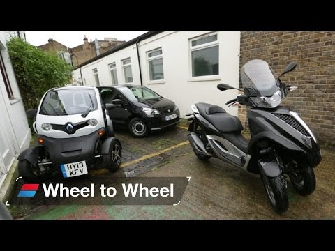 Urban Commuters - Piaggio MP3 vs Renault Twizy Vs SEAT Mii