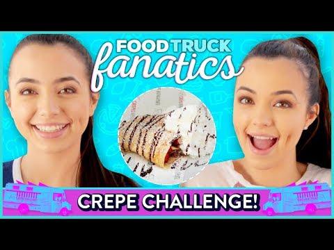 NUTELLA CREPE CHALLENGE?! Food Truck Fanatics w/ The Merrell Twins