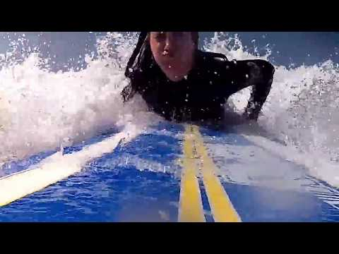 How to install gopro camera mount in Surf softboard