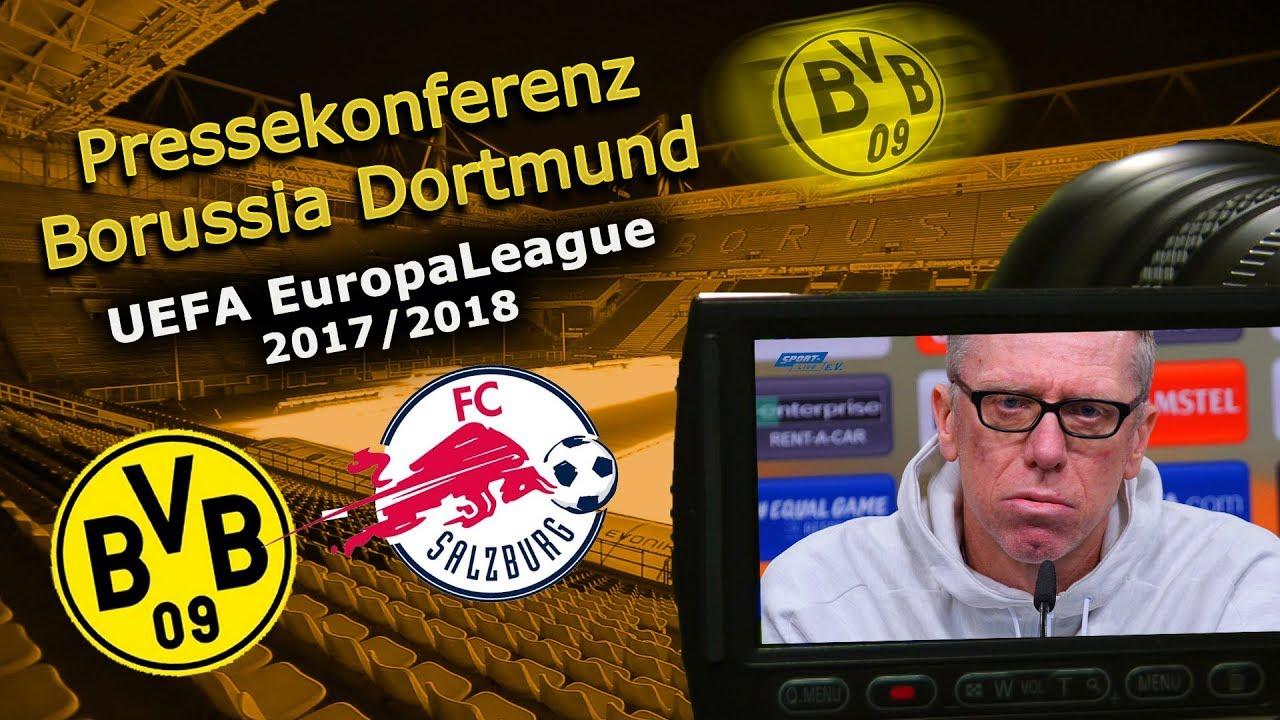 Borussia Dortmund - FC Salzburg: Pk mit Peter Stöger